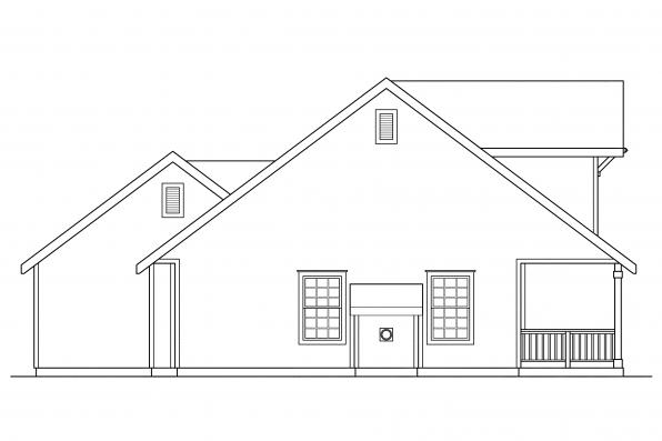 Craftsman House Plan - Lockhart 30-104 - Left Elevation
