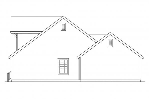 Craftsman House Plan - Lockhart 30-104 - Right Elevation