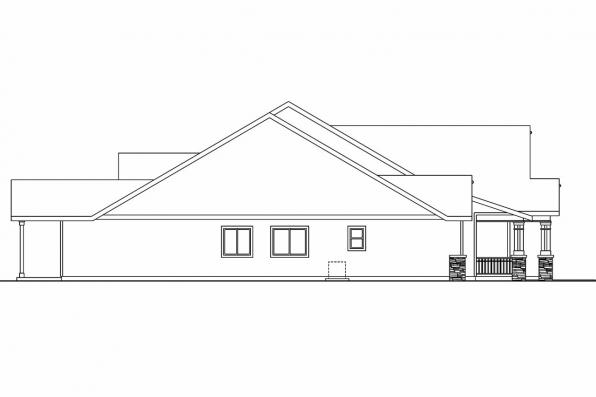 Craftsman House Plan - Maywood 30-680 - Left Elevation