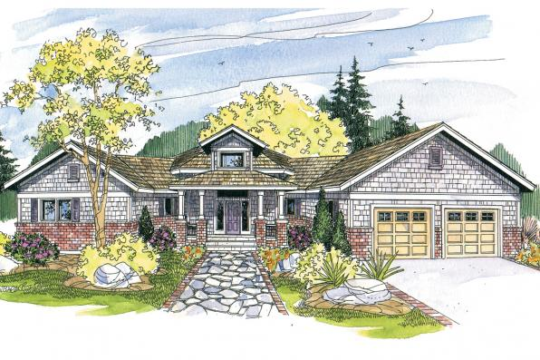 Craftsman House Plan - McCarren 10-509 - Front Elevation