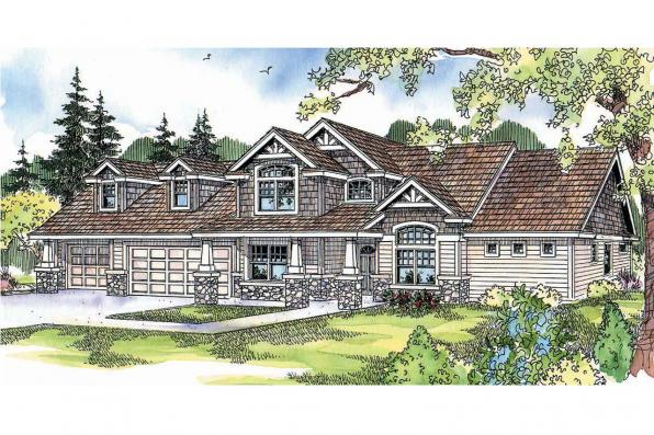 Craftsman House Plan - Montego 30-612 - Front Elevation