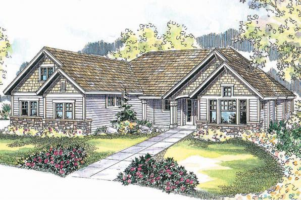 Craftsman House Plan - Palmer 30-416 - Front Elevation