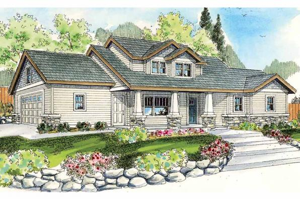 Craftsman House Plan - Rockport 30-707 - Front Elevation
