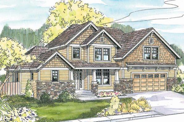 Craftsman House Plan - Scarborough 30-530 - Front Elevation