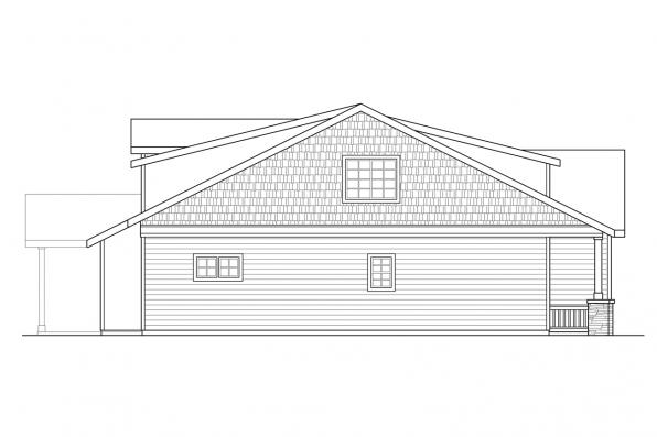 Craftsman House Plan - Shasta 30-866 - Left Elevation