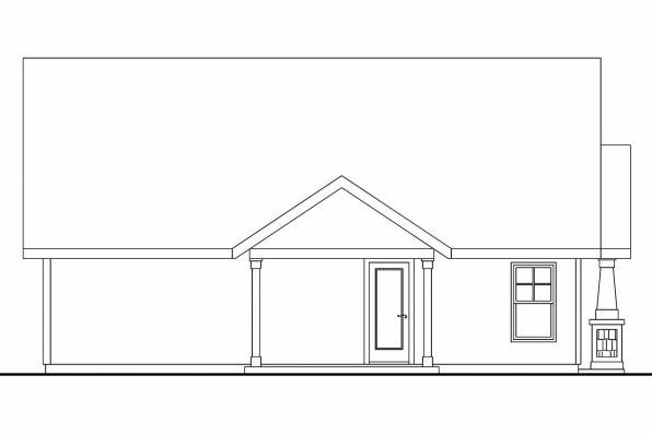 Craftsman House Plan - Spangler 30-674 - Left Elevation