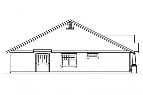 Craftsman House Plan - St. Clair 30-383 - Left Elevation