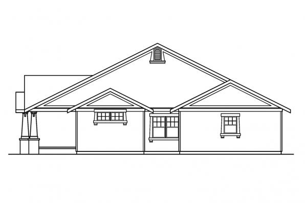 Craftsman House Plan - St. Clair 30-383 - Right Elevation
