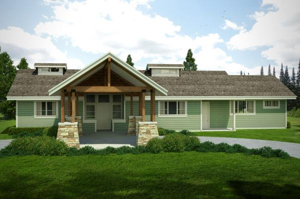 Craftsman House Plan - Tetherow 31-019 - Front Elevation