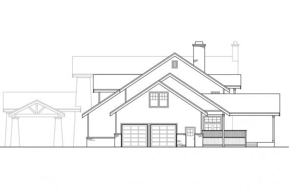 Craftsman House Plan - Timberfield 30-341 - Right Elevation