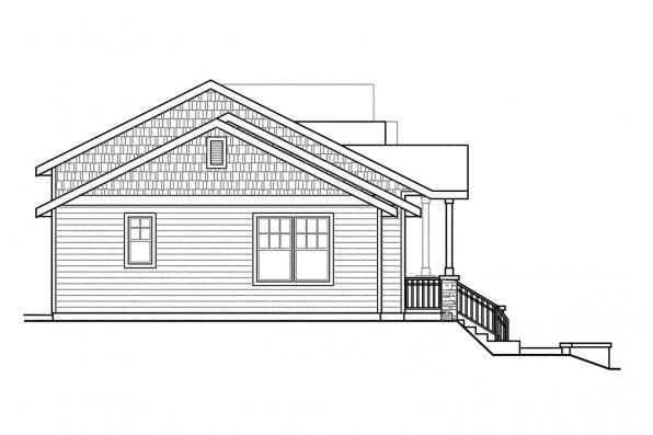 Craftsman House Plan - Vancouver 60-031 - Left Elevation
