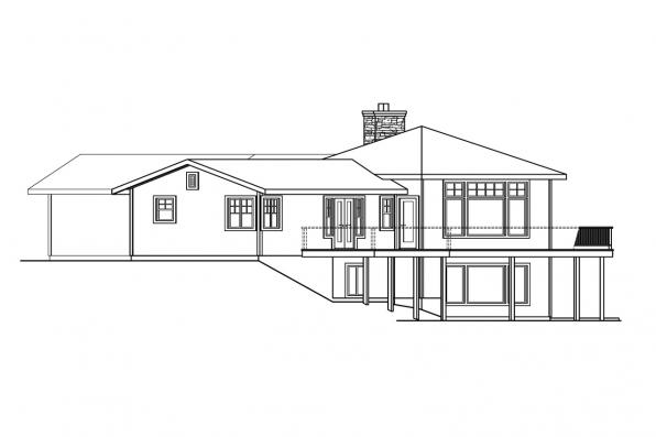 Craftsman House Plan - Viewcrest 10-536 - Right Elevation