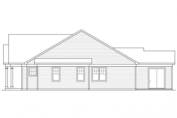 Craftsman House Plan - Westcliff 31-061 - Right Elevation