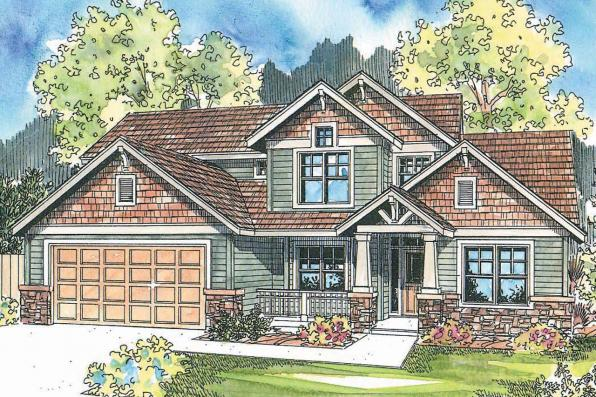 Craftsman House Plan - Westdale 30-572 - Front Elevation