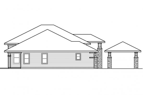 Mediterranean House Plan - Brynwood 30-430 - Left Elevation