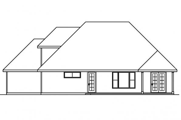Craftsman House Plan - Whitehaven 30-431 - Rear Elevation