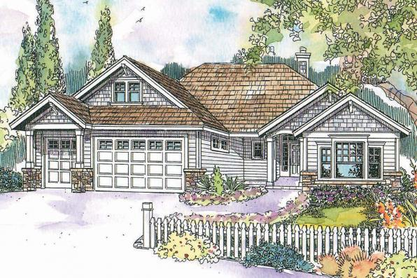Craftsman House Plan - Whitingham 30-501 - Front Elevation