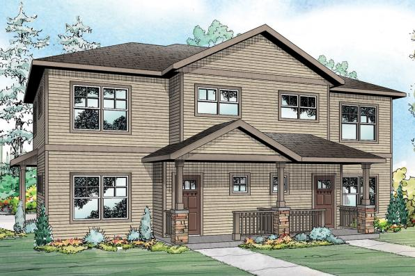 Duplex Plan - Hendrick 60-034 - Front Elevation