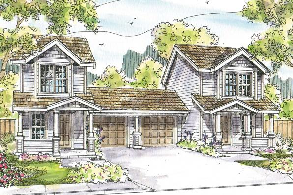 Duplex Plan - Philipsburg 60-030 - Front Elevation