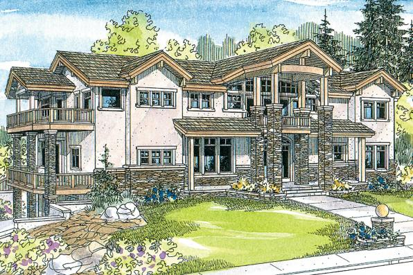 European House Plan - Brynwood 30-430 - Front Elevation