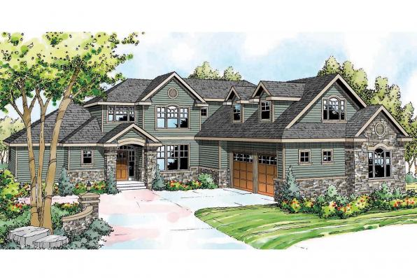 European House Plan - Canyonville 30-775 - Front Exterior