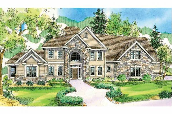 European House Plan - Charlottesville 30-650 - Front Elevation