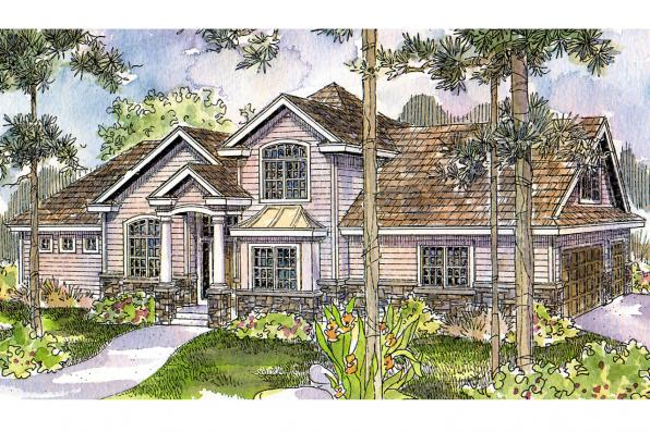 European House Plan - Crestwick 30-425 - Front Elevation