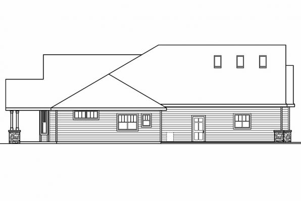 European House Plan - Elkheart 30-645 - Left Elevation