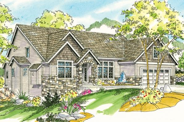 European House Plan - Lakeside 10-551 - Front Elevation