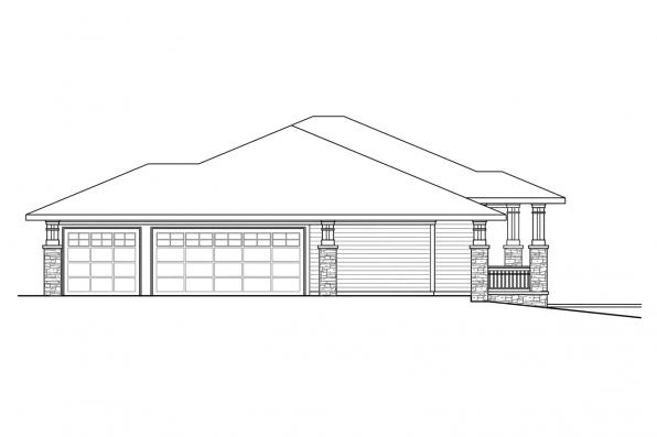 European House Plan - Northshire 30-808 - Left Elevation