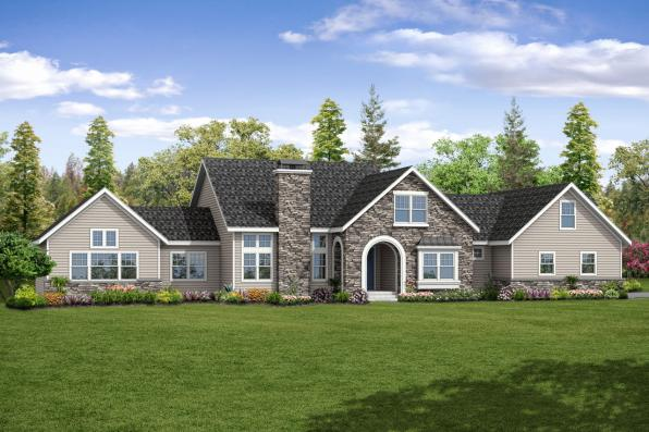 European House Plan - Pronghorn 30-917 - Front Elevation