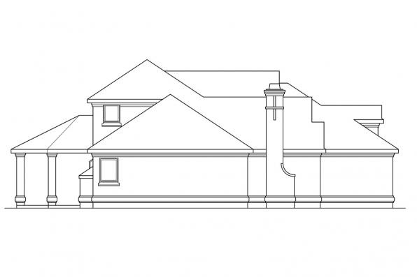 European House Plan - Providence 10-305 - Left Elevation