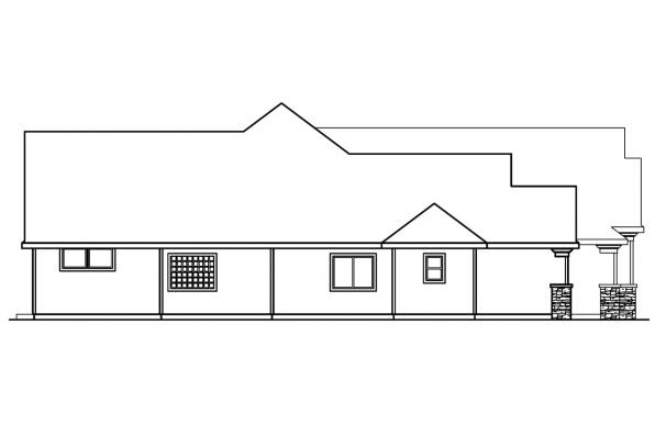 European House Plan - Rosemont 30-376 - Left Elevation