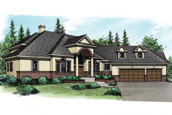 European House Plan - Vidalia 30-134 - Front Elevation