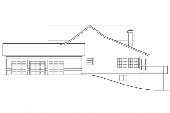 Florida House Plan - Artesia 10-168 - Right Elevation