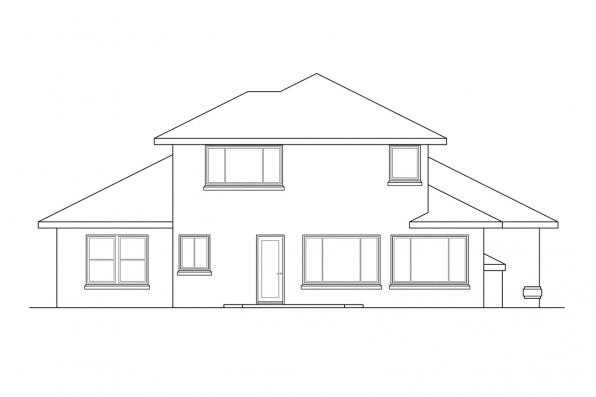 Florida House Plan - August 30-082 - Rear Elevation