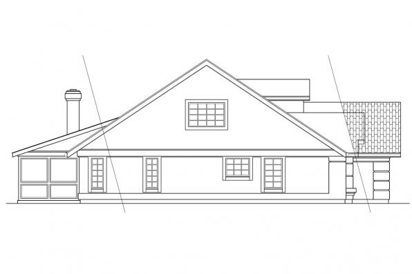 Florida House Plan - Banyon 11-004 - Left Elevation