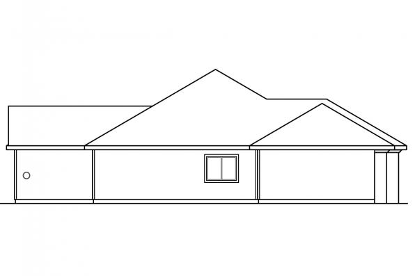 Florida House Plan - Brittany 30-317 - Left Elevation