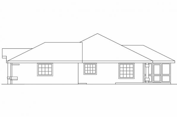 Florida House Plan - Calabro 11-083 - Right Elevation
