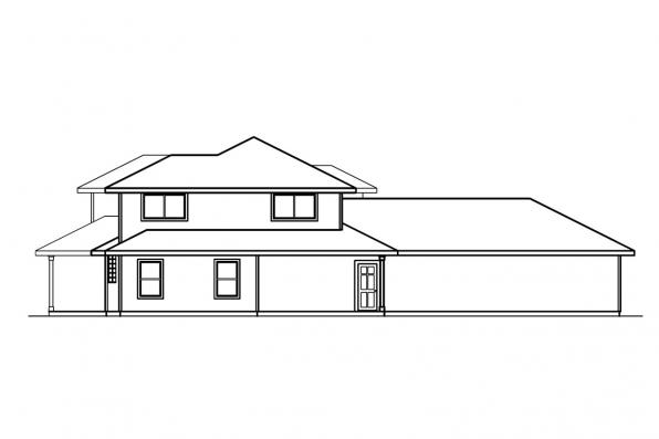 Florida House Plan - Casselman 30-432 - Left Elevation