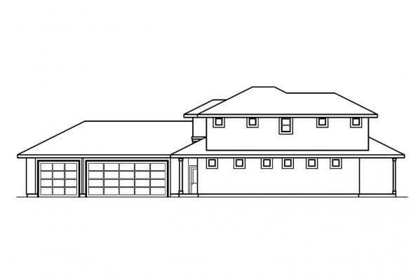 Florida House Plan - Casselman 30-432 - Right Elevation