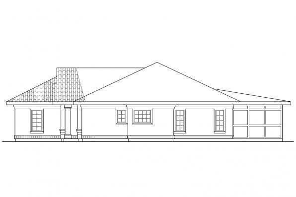Florida House Plan - Cypress 11-001 - Right Elevation
