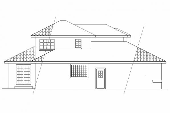 Florida House Plan - Highland 11-047 - Left Elevation