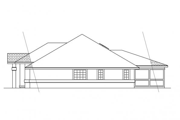 Florida House Plan - Santa Maria 11-033 - Right Elevation