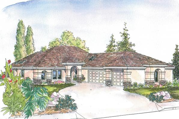 Florida House Plan - Suncrest 30-499 - Front Elevation