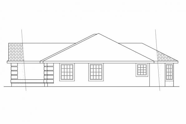 Florida House Plan - Verona 11-074 - Right Elevation