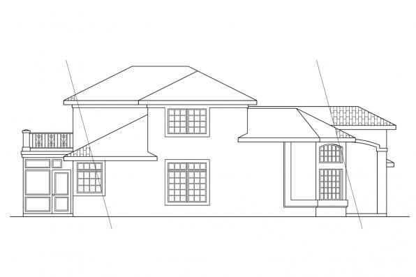 Florida House Plan - Warrington 11-036 - Left Elevation