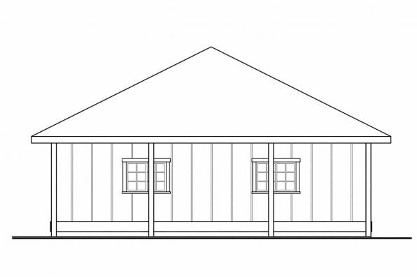 Four Car Garage Plan 20-066 - Right Elevation