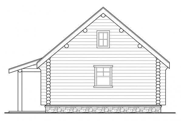 Garage Design 20-012 - Rear Elevation