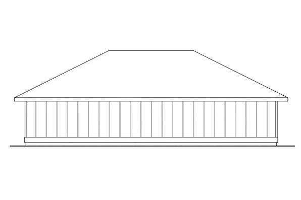 Garage Design 20-050 - Rear Elevation